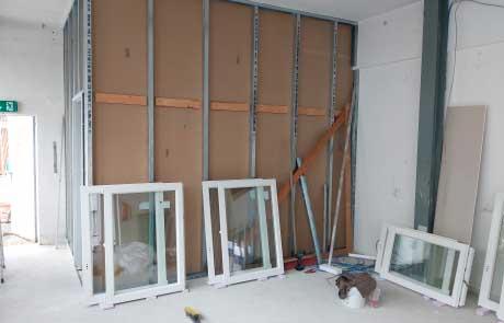 Neue Wände für neue Räume